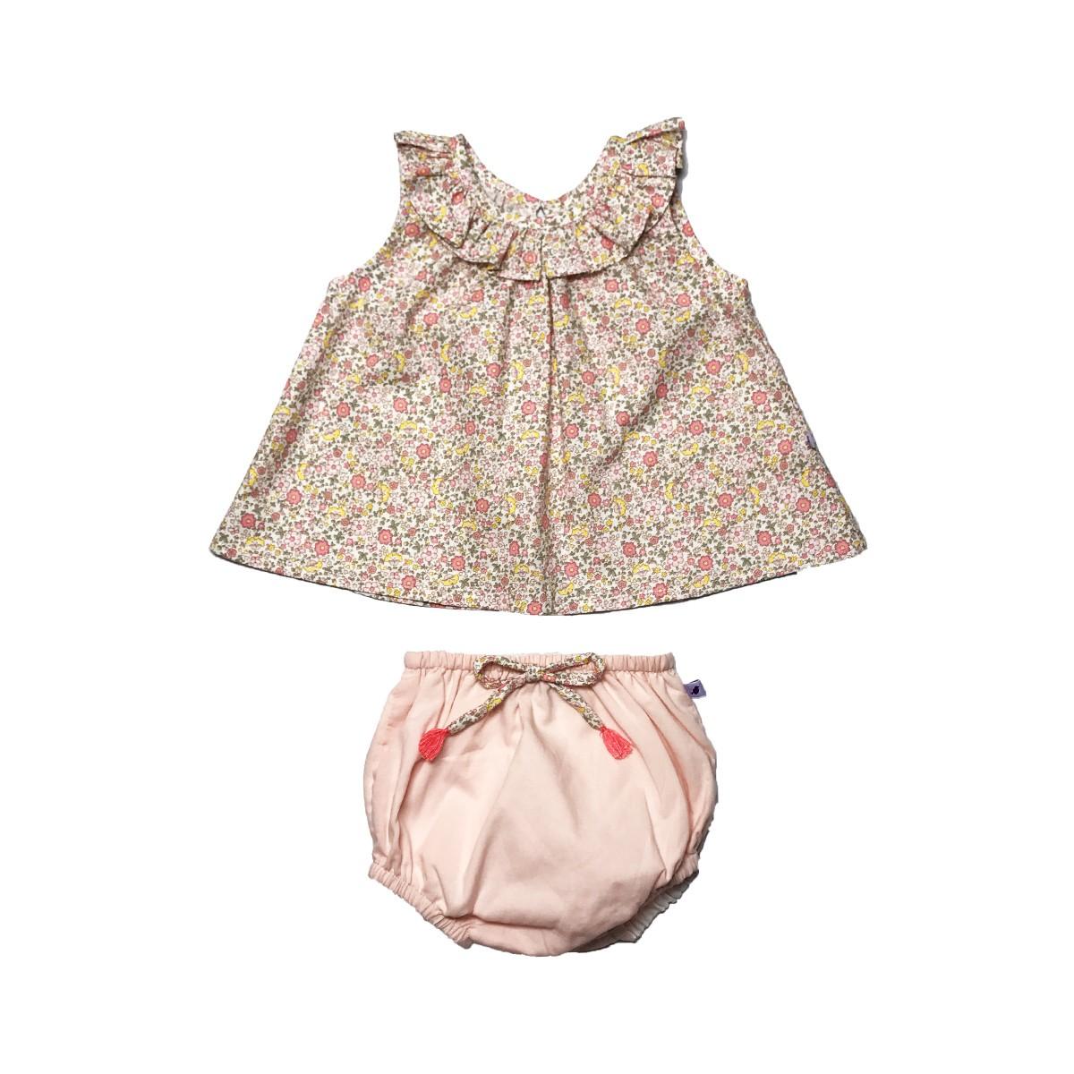 MILE BEBE 法式粉紅小花套裝