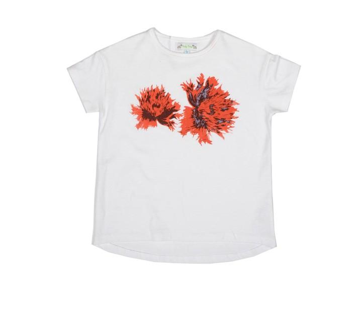 ROLY PONY 紅色鬱金香棉質T-shirt