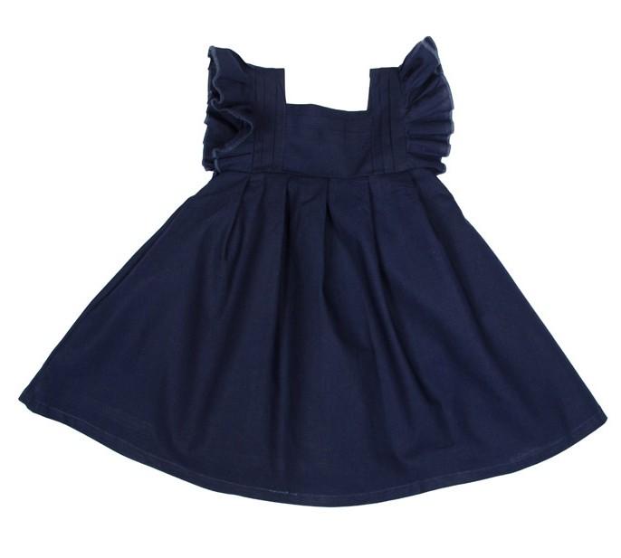 ROLY PONY 海軍藍荷葉無袖洋裝