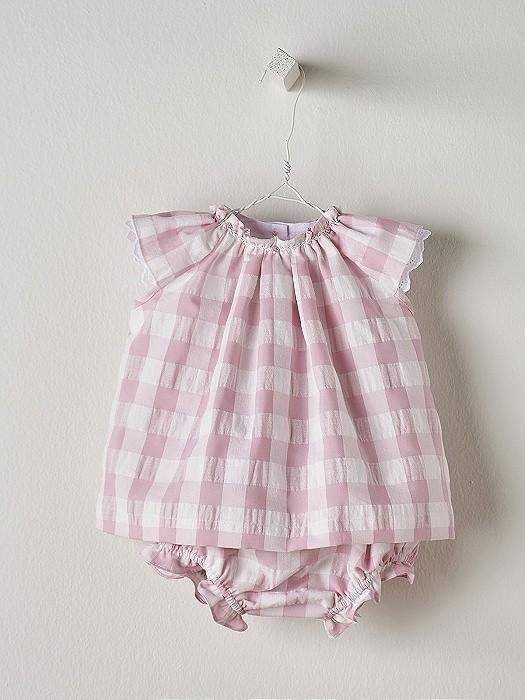 NANOS 粉色格紋套裝