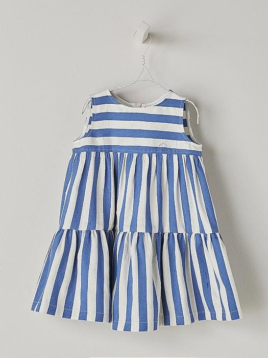 NANOS 藍白背心洋裝