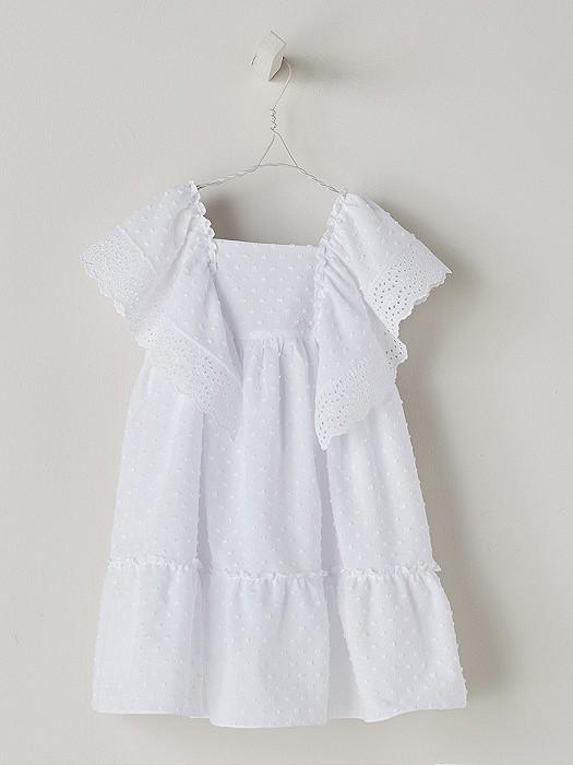 NANOS 白色羽毛棉洋裝