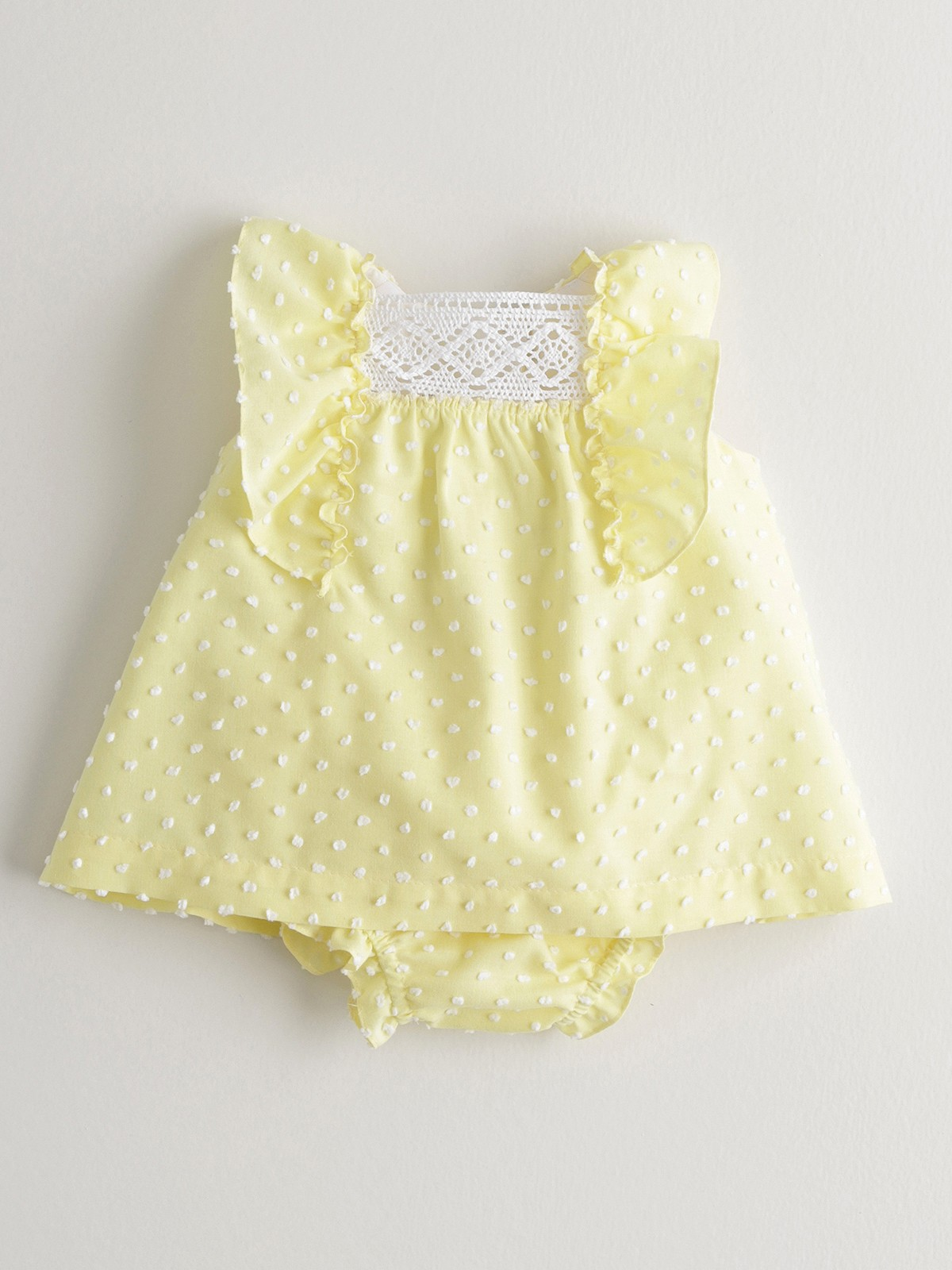 NANOS 黃色羽毛棉套裝