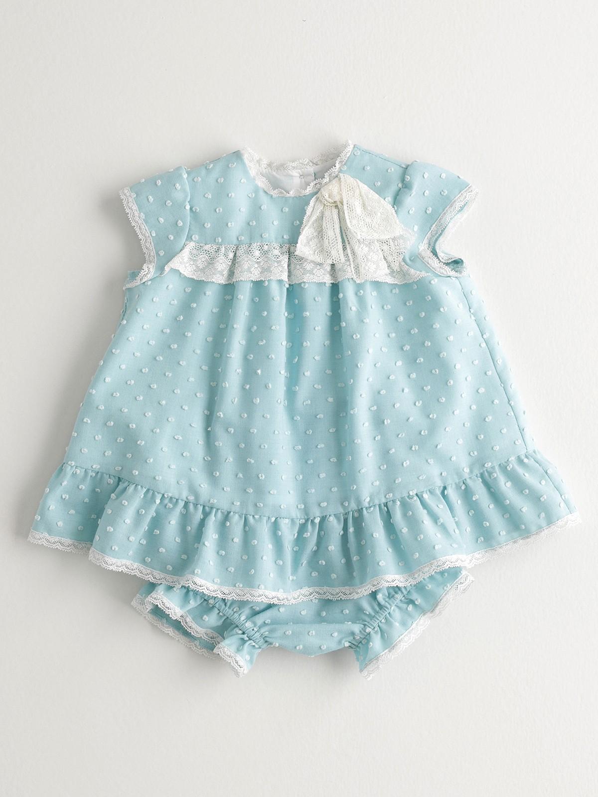 NANOS 水藍色羽毛棉套裝