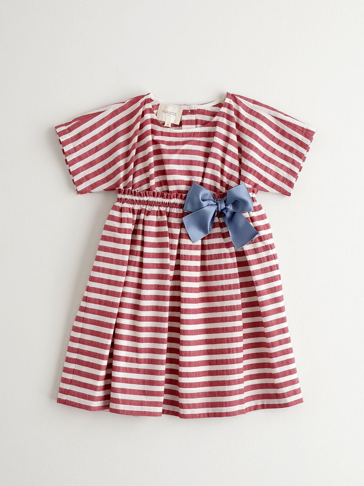 NANOS 紅色條紋洋裝