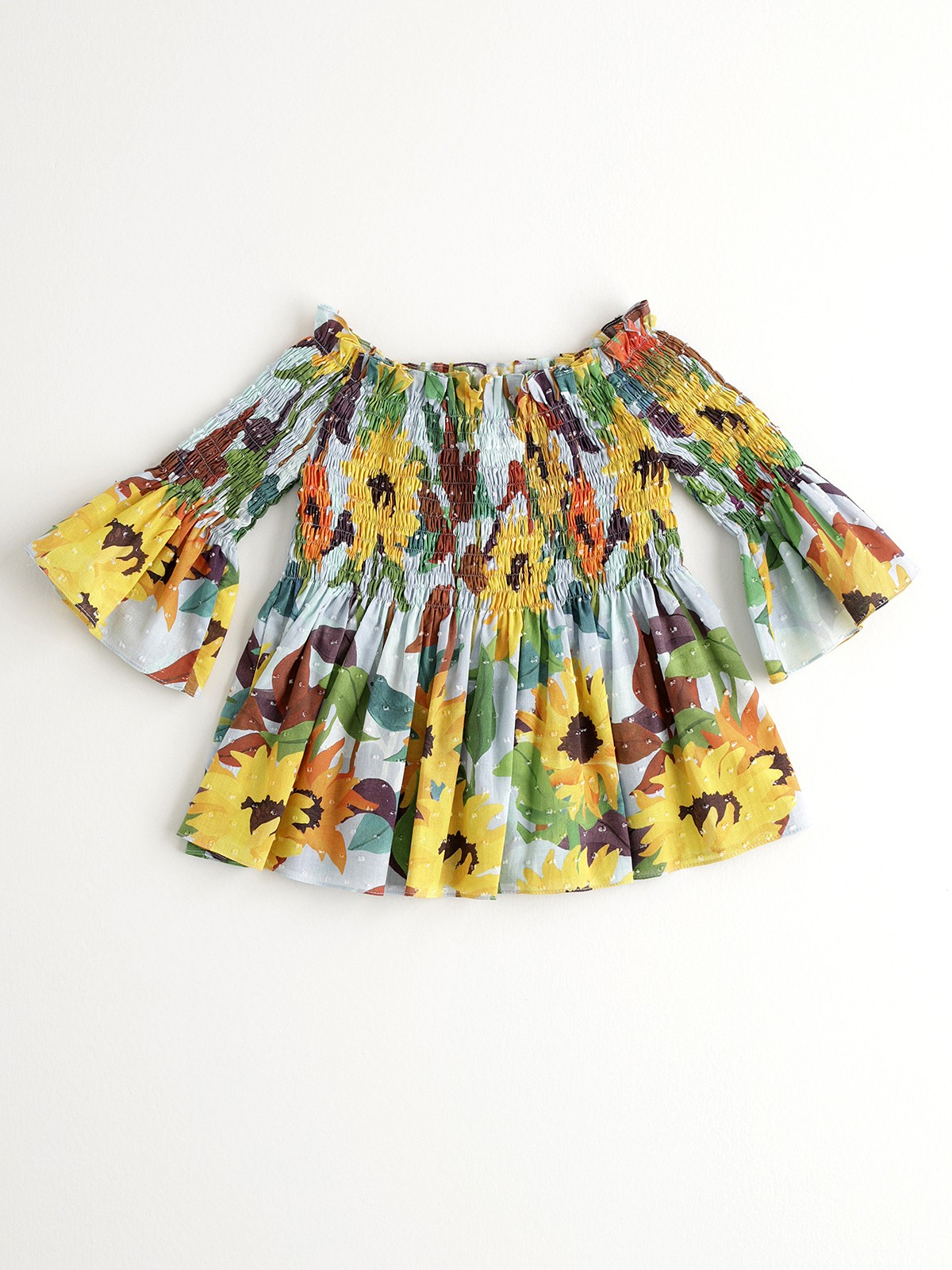 NANOS 向日葵水袖上衣