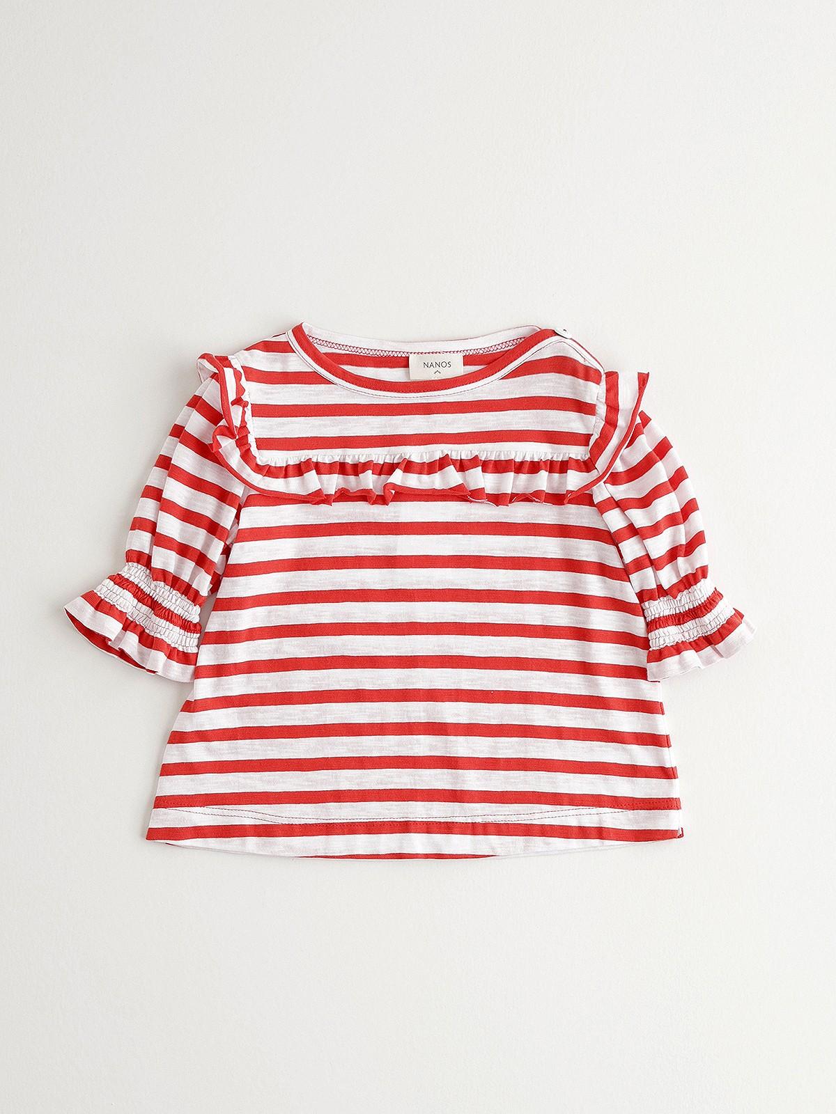 NANOS 紅色條紋上衣