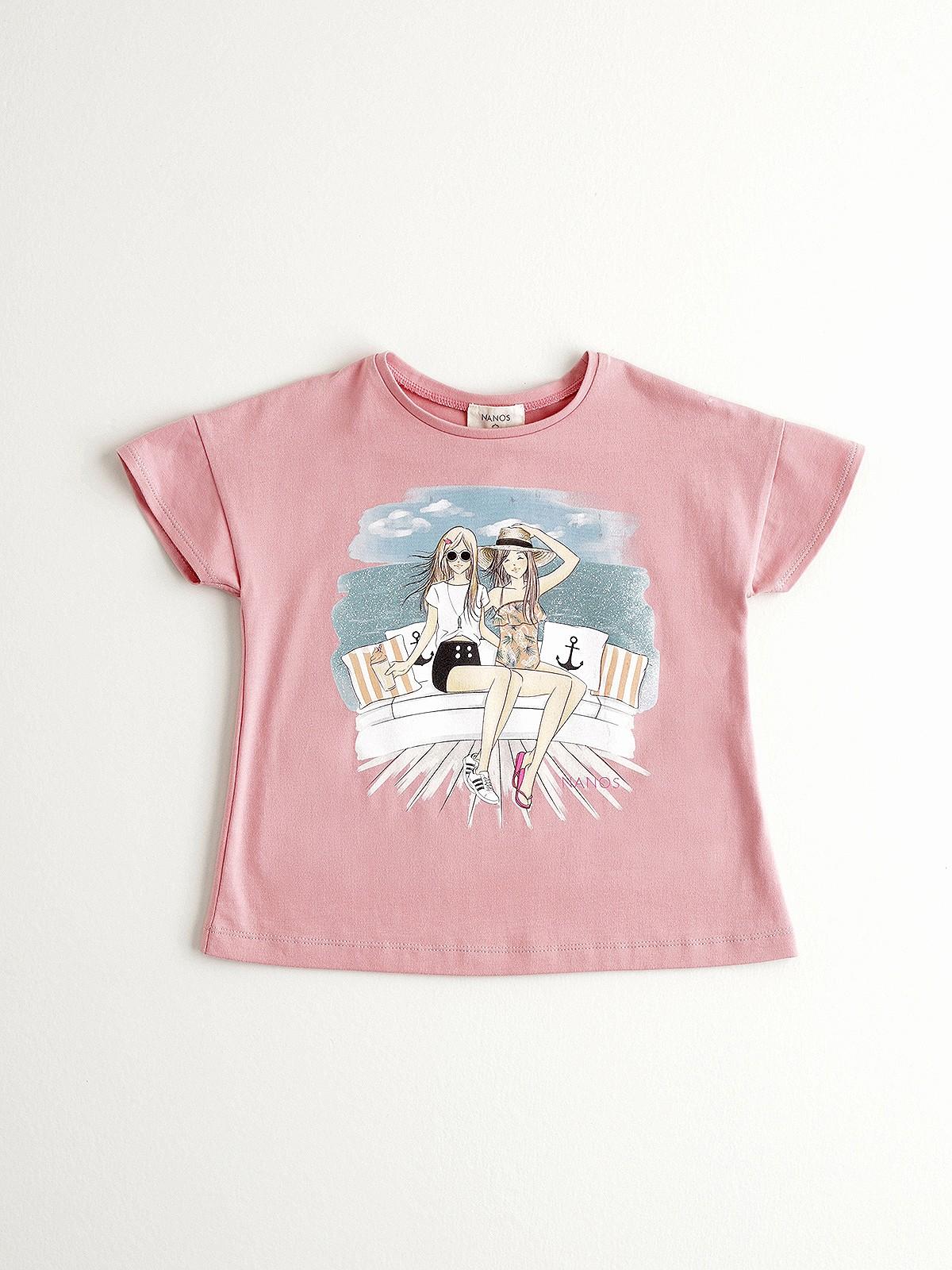 NANOS 粉色純棉上衣