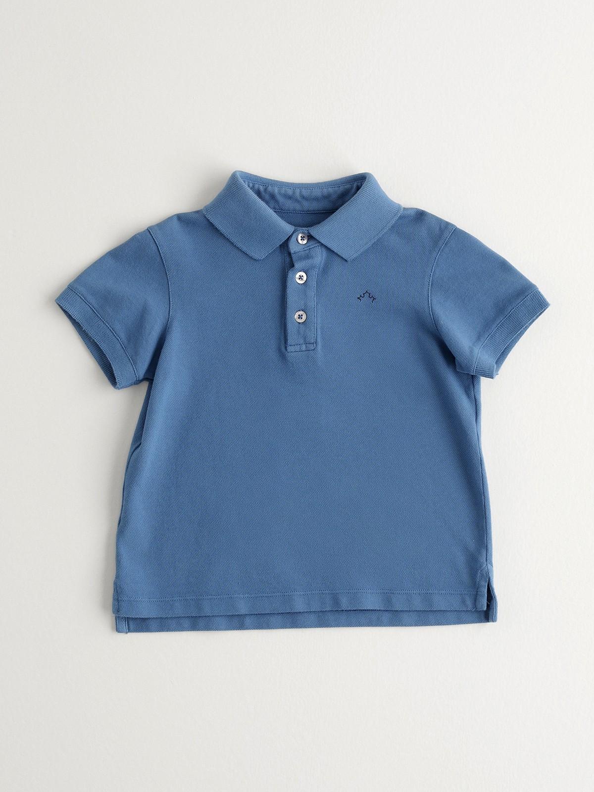 NANOS 深藍POLO衫-BOY