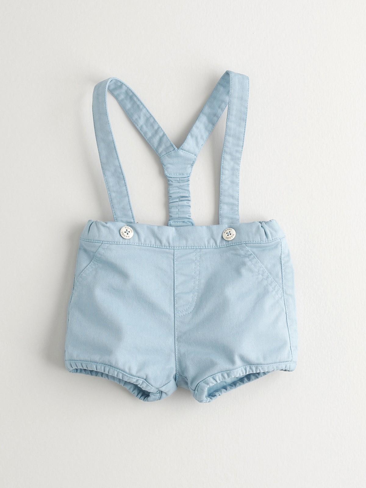 NANOS 水藍色吊帶褲
