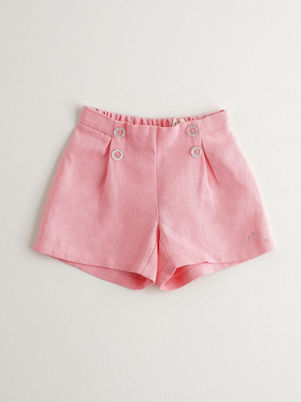NANOS 粉色高腰短褲