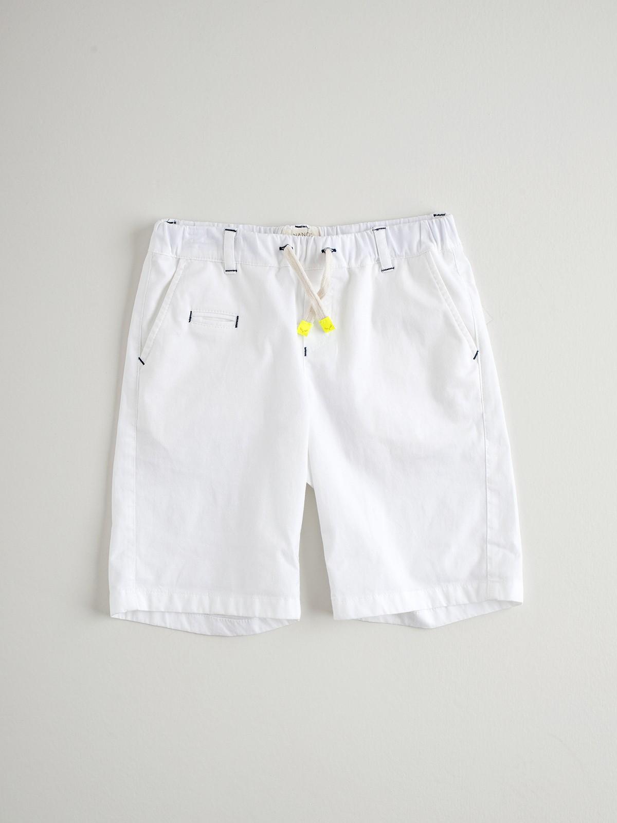 NANOS 白色抽繩短褲
