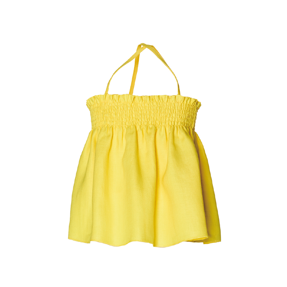NANOS 檸檬黃細肩帶上衣