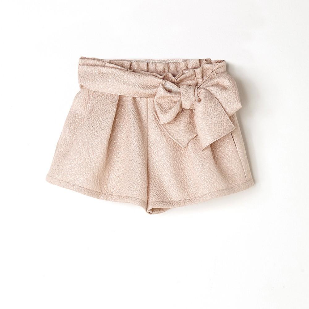 NANOS 銀蔥粉蝴蝶結短褲
