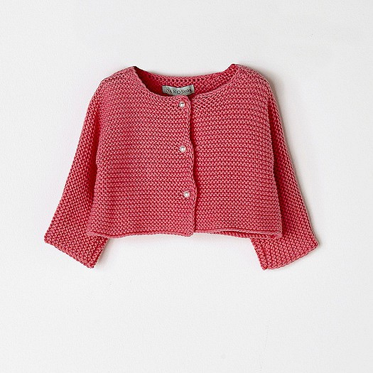 NANOS 橘紅色棉質針織外套