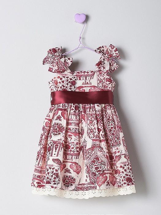 NANOS 紅花圖騰洋裝