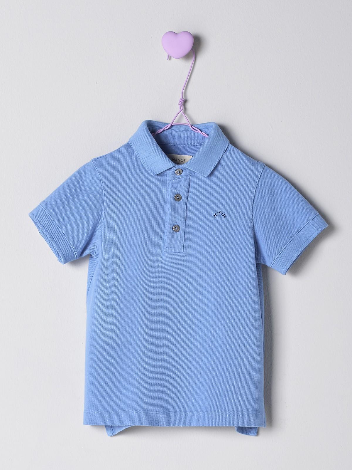 NANOS 藍色POLO衫