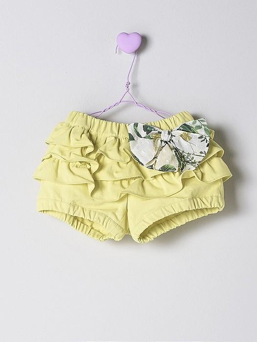 NANOS 黃色蝴蝶結短褲