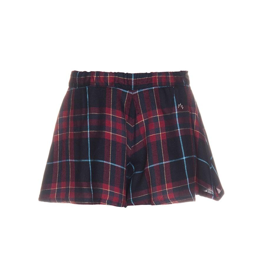 NANOS 紅黑蘇格蘭經典格紋褲裙