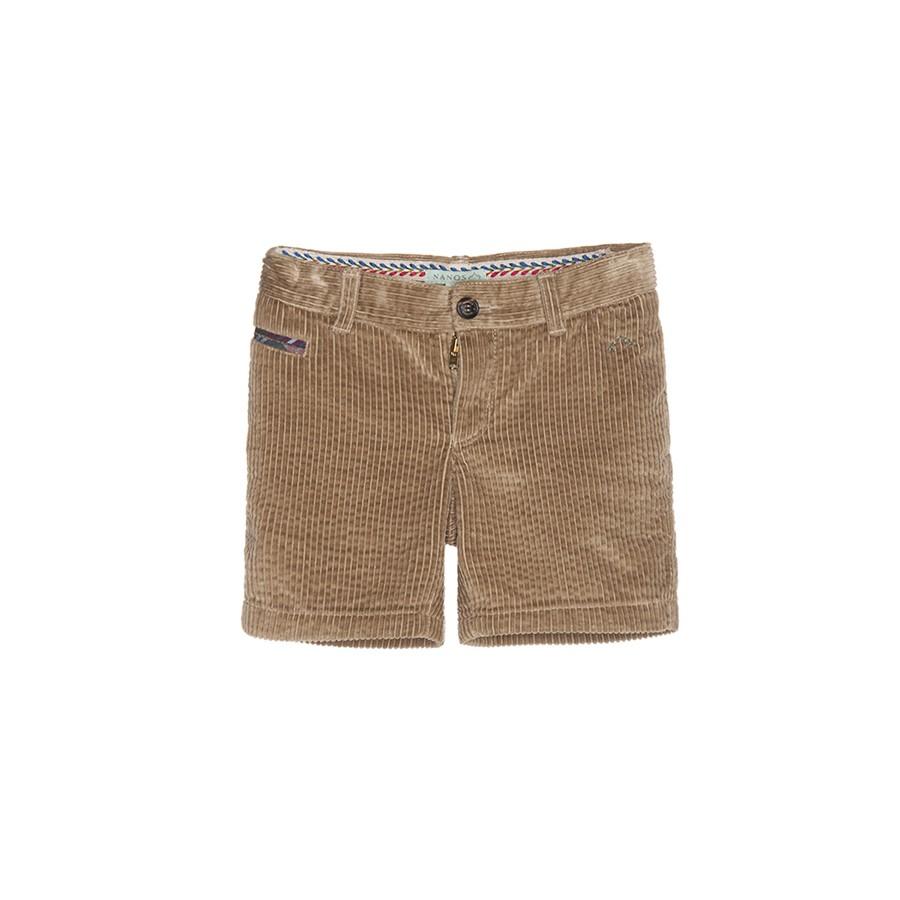 NANOS 英國皇式風卡其燈芯絨短褲