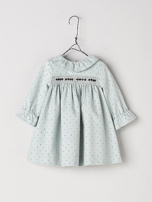 NANOS 粉綠色長袖洋裝