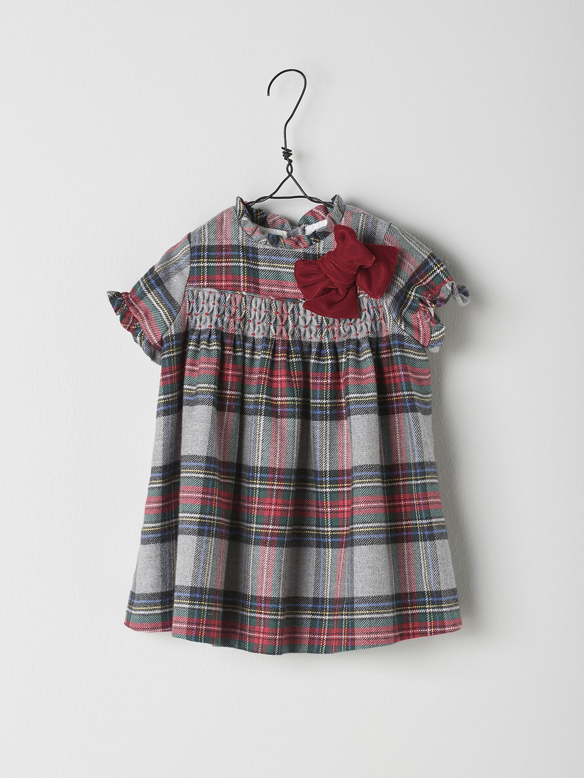 NANOS 紅格紋洋裝