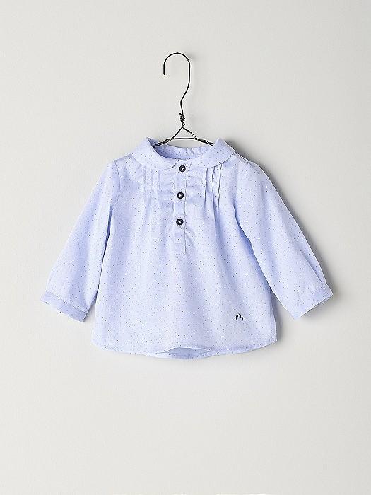 NANOS 粉藍圓領上衣