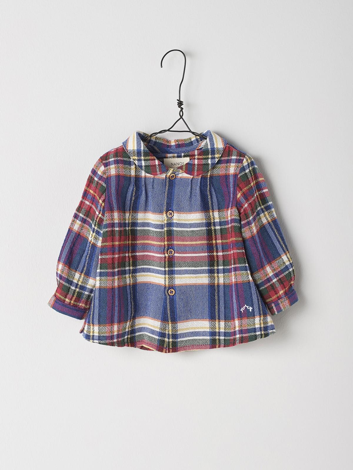 NANOS 格紋圓領襯衫