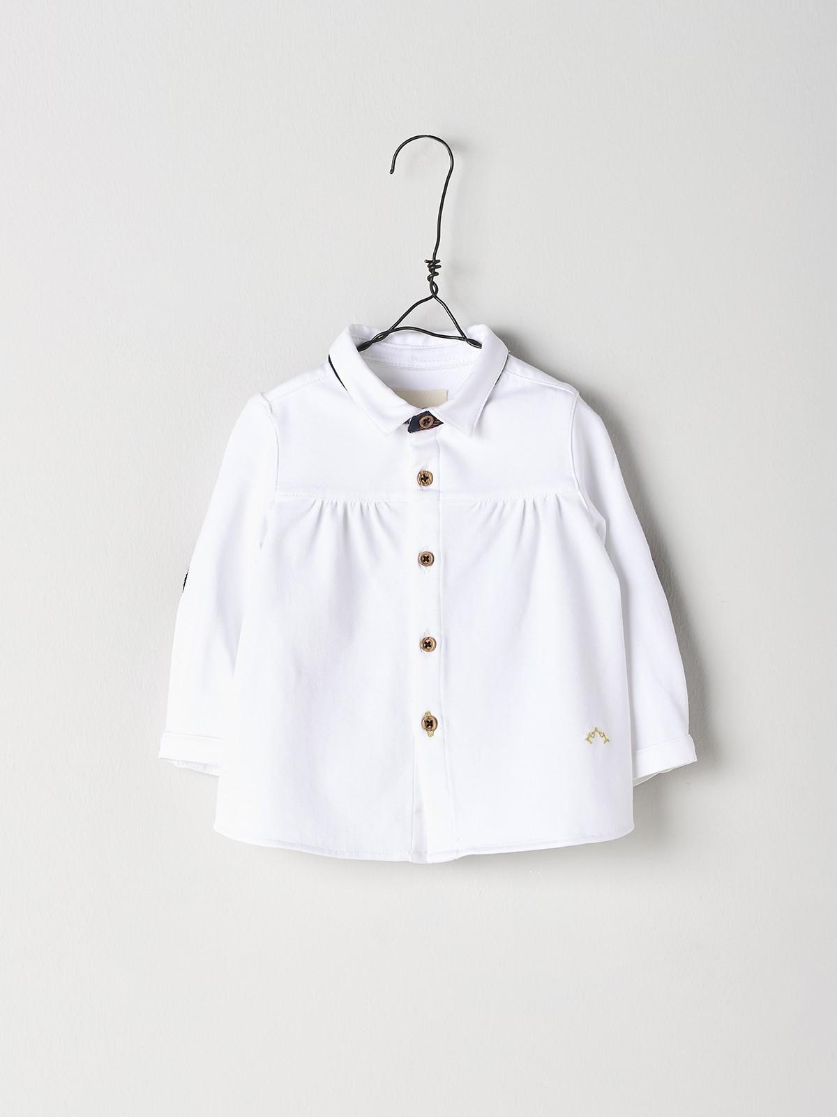 NANOS 白色棉質襯衫