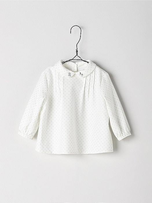NANOS 白色小圓領上衣