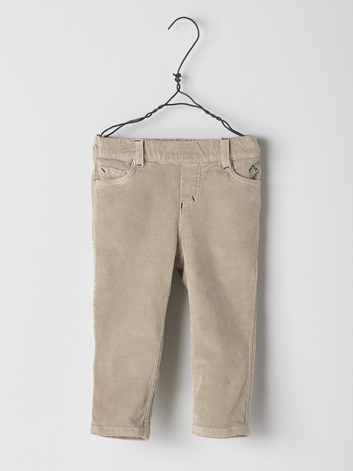 NANOS 米色燈芯絨長褲