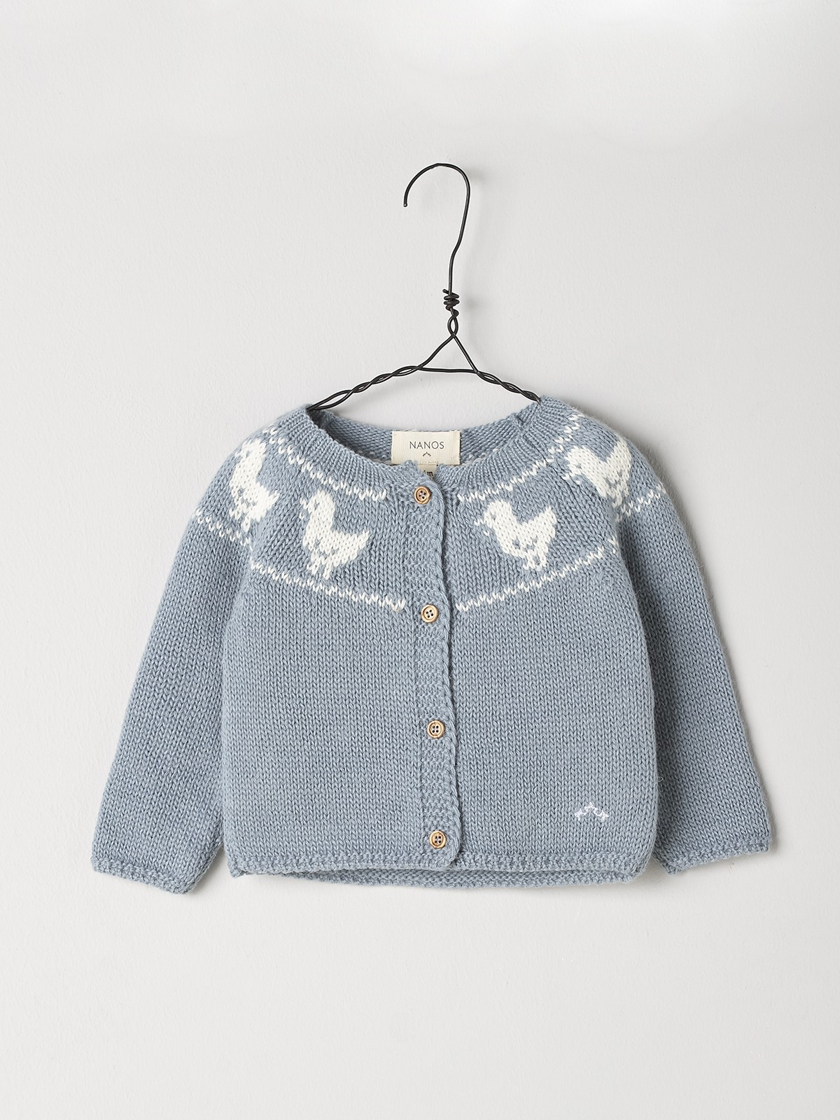 NANOS 粉藍小雞針織外套