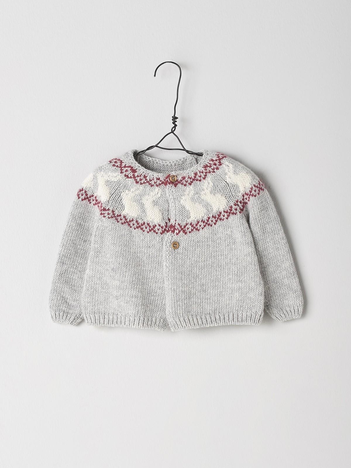 NANOS 灰色兔子針織外套