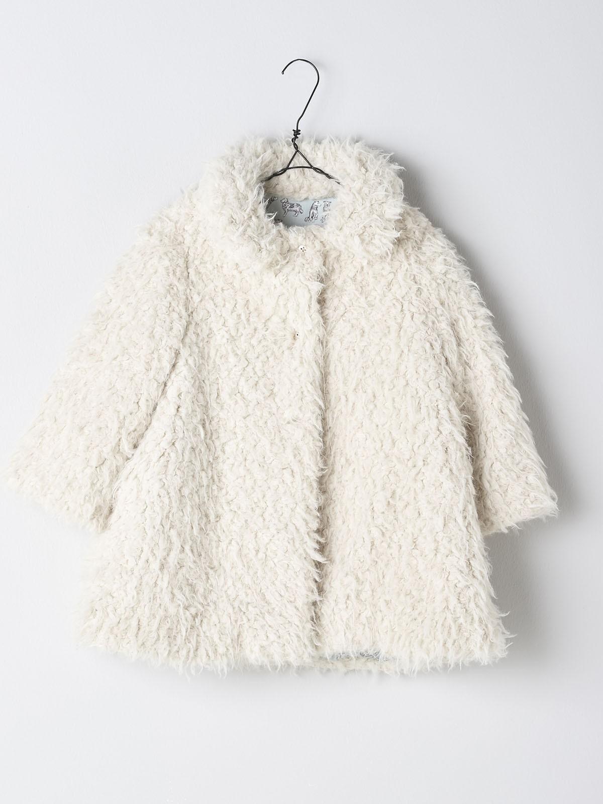 NANOS 米色毛絨外套
