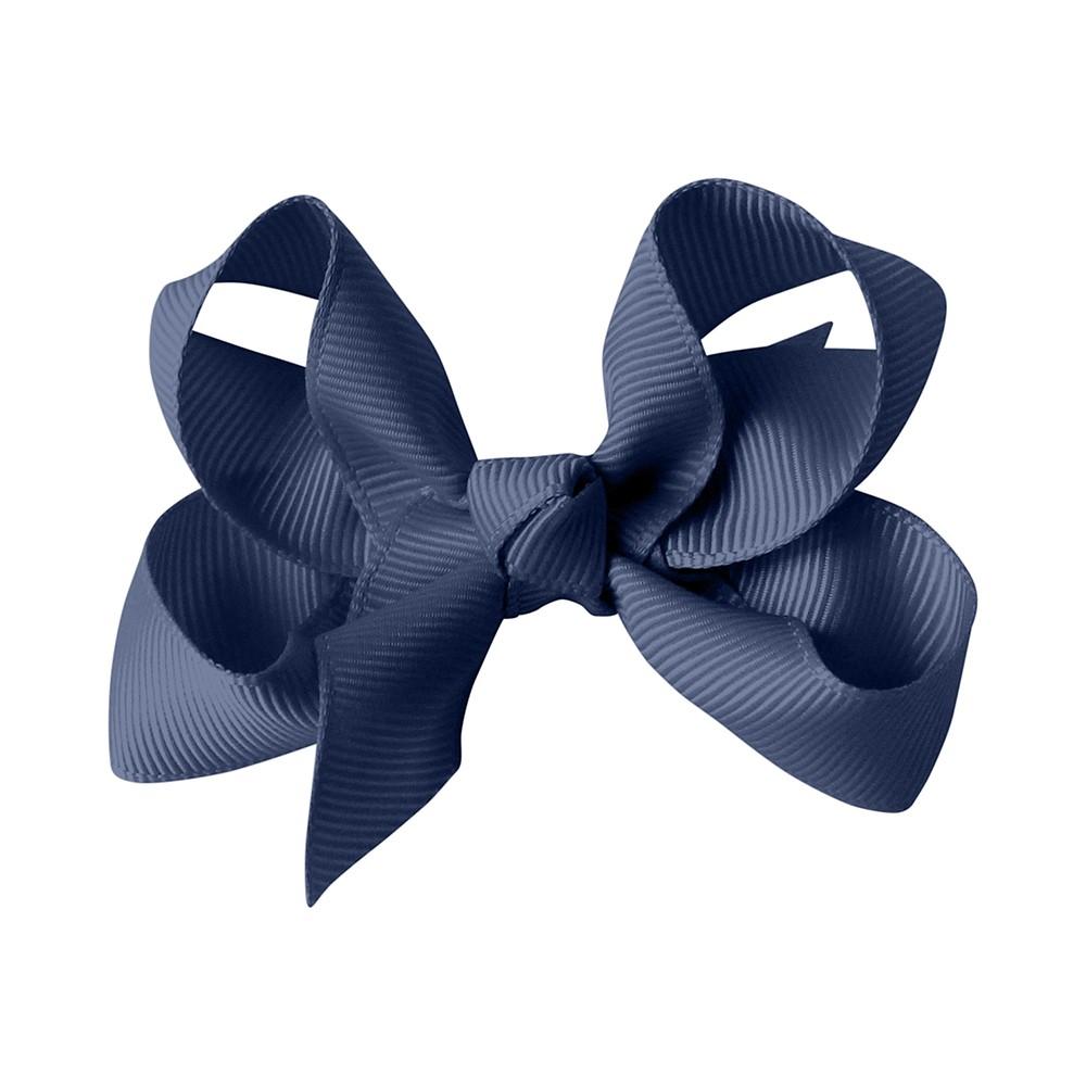 MILLEDEUX 經典手工蝴蝶結髮夾-SMOKE BLUE(中)