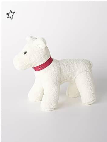 NANOS絨毛白色狗狗