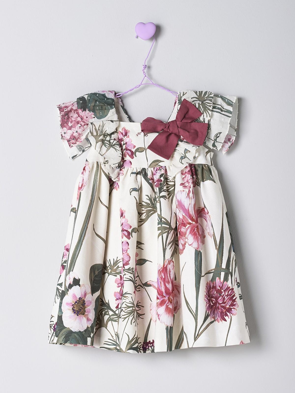 NANOS 粉花圖騰洋裝
