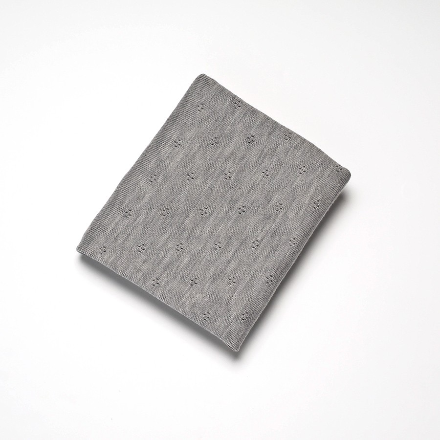 Roly Pony 灰色美麗諾羊毛毯
