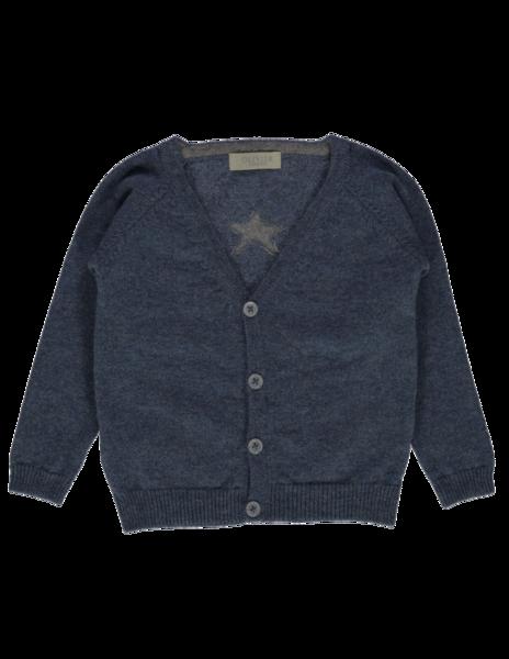OLIVIER BABY AND KIDS 丹寧藍星星喀什米爾毛衣外套(100% CASHMERE)
