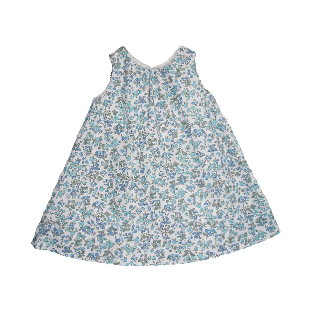 MILE BEBE 粉藍小花無袖背心裙洋裝