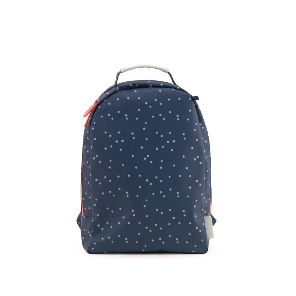 MISS RILLA-藍色小圓點後背包