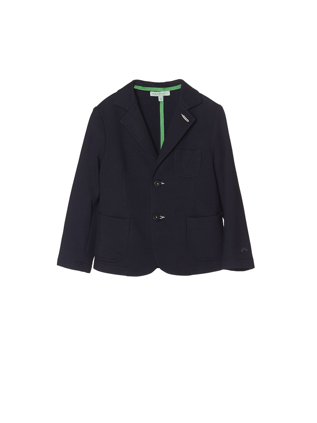 NANOS 深藍色棉質西裝外套