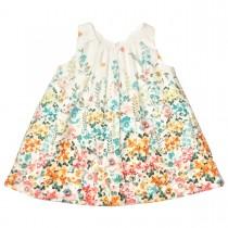 MILE BEBE 白色花朵洋裝