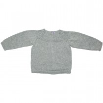 MILE BEBE  灰色針織貝殼釦上衣