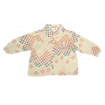 ROLY PONY 白底圖騰造型絲質襯衫