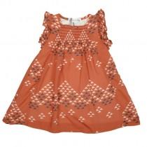 ROLY PONY 橘底圖騰造型絲質洋裝