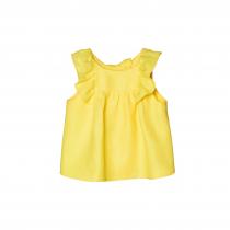 NANOS 檸檬黃荷葉無袖上衣