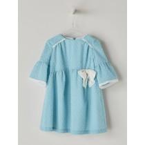 NANOS 水藍色羽毛棉洋裝