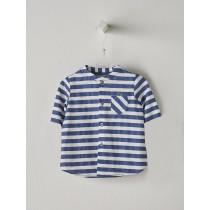 NANOS 深藍條紋短袖襯衫-Baby