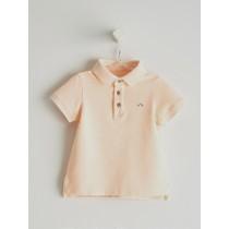 NANOS 粉橘色POLO衫